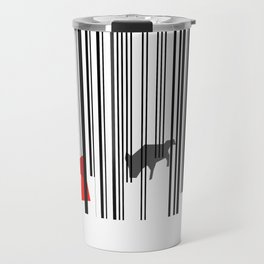 out of the woods minimal fairytale graphic design Travel Mug