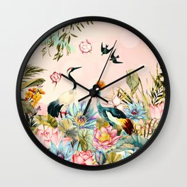 Landscapes of birds in paradise 2 Wall Clock