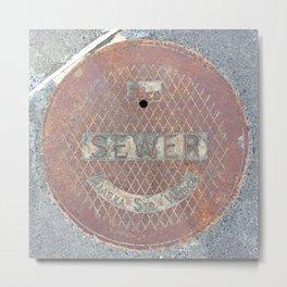 Manhole Cover - Seward Metal Print