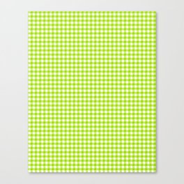 Picnic Pals gingham in citrus Canvas Print