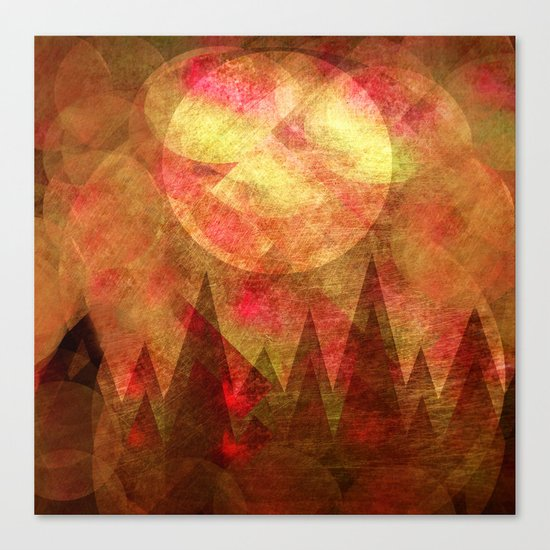Scattered Moon Canvas Print