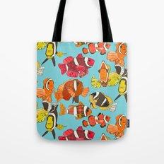 clownfish blue Tote Bag