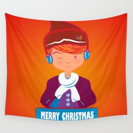 "Mikel AlfsToys say: ""Merry Christmas""  Wall Tapestry"
