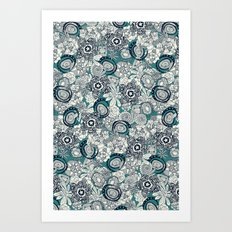 succulents blue indigo Art Print