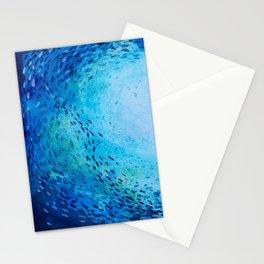 osservando dalle profondità Stationery Cards