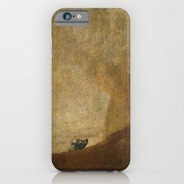 The Dog by Francisco Goya, 1823 iPhone Case