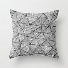 Angular Stripes Throw Pillow