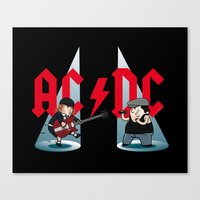acdc Canvas Prints featuring ACDC by victimArte