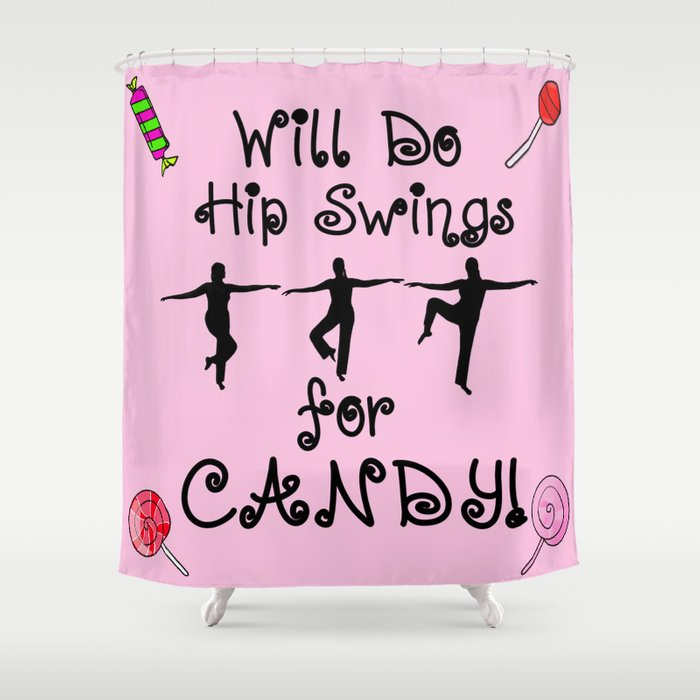 Ballet Barre Workout Dance For Candy Shower Curtain