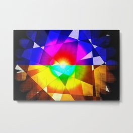 lined color flash forms and shapes attack Metal Print
