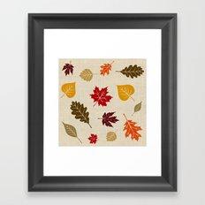 When The Leaves Fall Framed Art Print