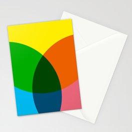 rgb flower Stationery Cards
