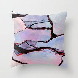Lilac quartz space Throw Pillow