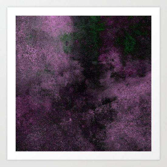 Dusk (Abstract, acrylic painting) Art Print