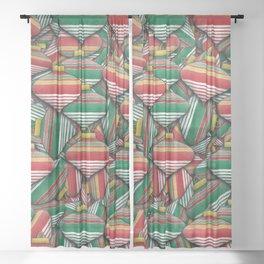 Ornament Pile - Christmas Design Sheer Curtain