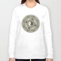 yin yang Long Sleeve T-shirts featuring Yin Yang by TypicalArtGuy