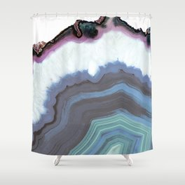 Blue Jeans Agate Shower Curtain