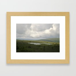 Nordic Lake Framed Art Print