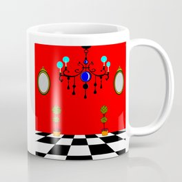 An Elegant Hall of Mirrors with Chandler and Topiary Coffee Mug