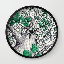 Big tree in white Wall Clock