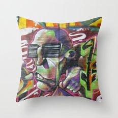 Bristol Graffiti 02 Throw Pillow