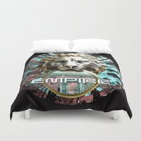 lions Duvet Covers featuring LIONS by infloence