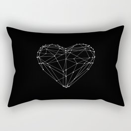 Polygon Love Heart modern black and white minimalist home room wall decor canvas Rectangular Pillow