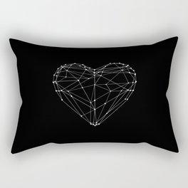 Polygon Love Heart modern black and white minimalist home room wall decor canvas Rectangular Pillow