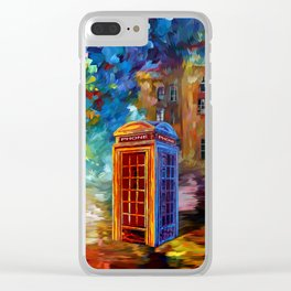 British Red Phone box Clear iPhone Case