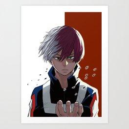 Half powers boy Art Print