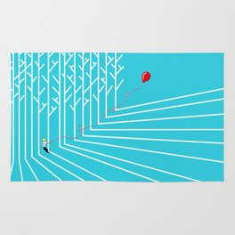 Astro Balloon | My Balloon Friend | Astronaut in Forest | Cosmonaut | pulps of wood Rug