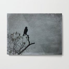 Majestic Crow Metal Print