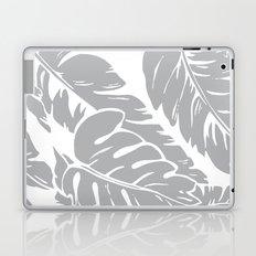 PALM LEAF GRAY Laptop & iPad Skin
