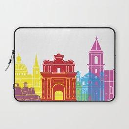 Valletta skyline pop Laptop Sleeve