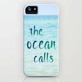 the ocean calls iPhone Case