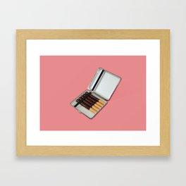Have a break // Chocolate cigaret Framed Art Print