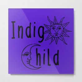 Indigo Child Metal Print