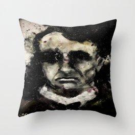 Charles Baudelaire portrait gothique vintage victorien Throw Pillow