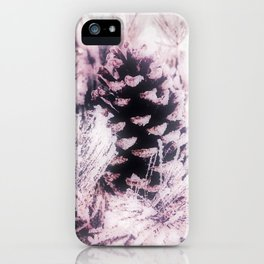 White Pine, Christmas Snowfall iPhone Case