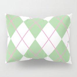 Green Argyle Pillow Sham