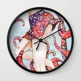 peeking tentacle Wall Clock