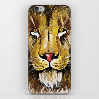the lion king iPhone & iPod Skins featuring Lion King by Chris Knight