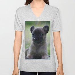 A yellow Shepherd puppy Spok Unisex V-Neck