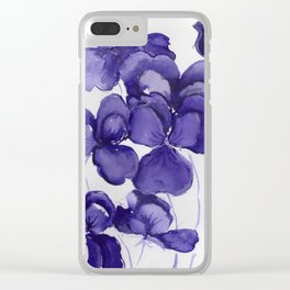 Pansy Party Clear iPhone Case