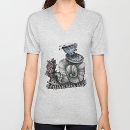 Tea Time Unisex V-Neck
