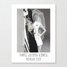 Mors Ultima linea rerum est. Canvas Print