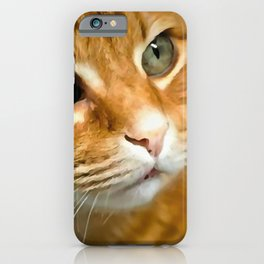 Adorable Ginger Tabby Cat Posing iPhone Case