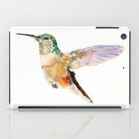 hummingbird iPad Cases featuring Hummingbird by coconuttowers