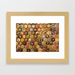 Bottle Caps Framed Art Print