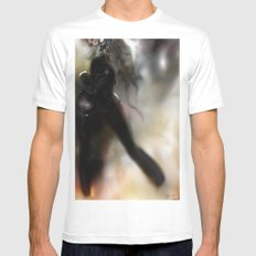 Figure World White MEDIUM Mens Fitted Tee